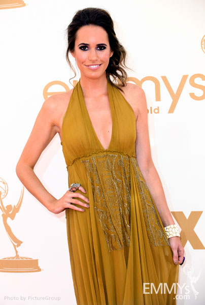 Louise Roe arrives at the Academy of Television Arts & Sciences 63rd Primetime Emmy Awards at Nokia Theatre L.A. Live