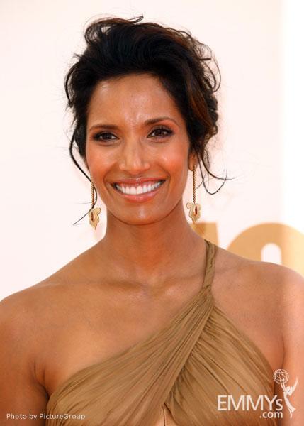 Padma Lakshmi arrives at the Academy of Television Arts & Sciences 63rd Primetime Emmy Awards