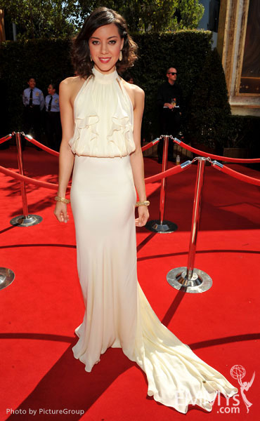 Aubrey Plaza arrives at the Academy of Television Arts & Sciences 63rd Primetime Emmy Awards