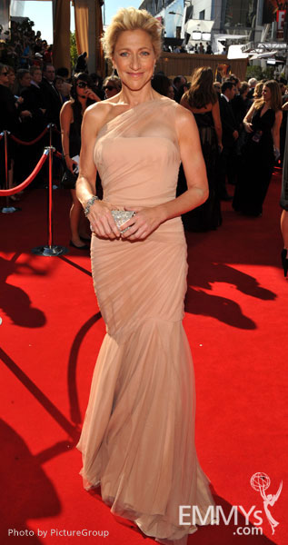 Edie Falco arrives at the Academy of Television Arts & Sciences 63rd Primetime Emmy Awards