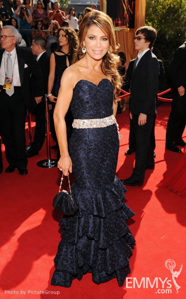 Paula Abdul arrives at the Academy of Television Arts & Sciences 63rd Primetime Emmys at Nokia Theatre L.A. Live