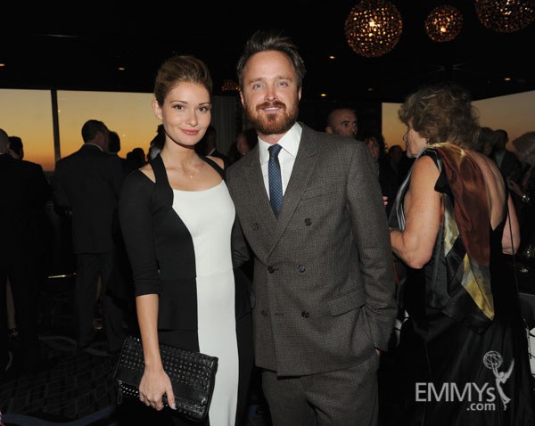 Lauren Parsekian and Aaron Paul at the 2013 Performers Emmy Celebration