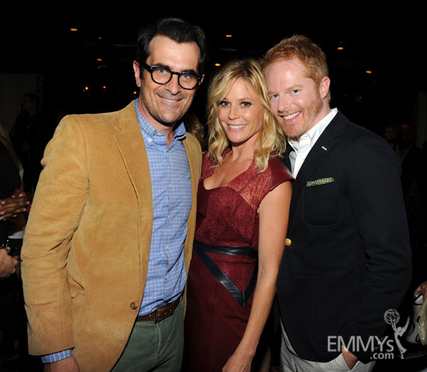 Ty Burrell, Julie Bowen and Jesse Tyler Ferguson at the 2013 Performers Emmy Celebration