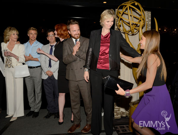Jane Fonda, Derek Hough, Dan Bucatinsky, Christina Hendricks, Aaron Paul, Jane Lynch and Sofia Vergara