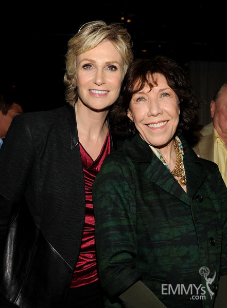 Jane Lynch and Lily Tomlin at the 2013 Performers Emmy Celebration