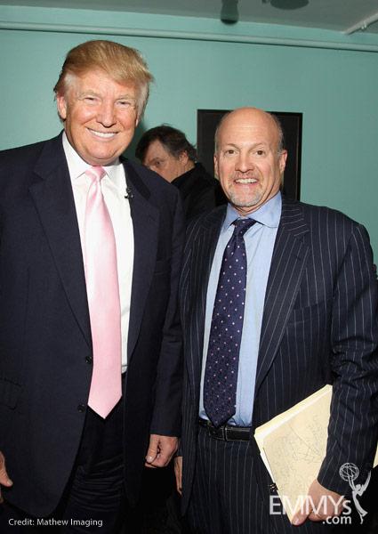 Donald Trump Amp Moderator Jim Cramer At An Evening With