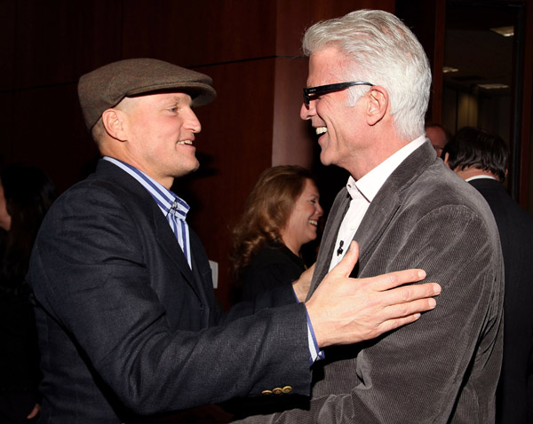 Actors Woody Harrelson and Ted Danson