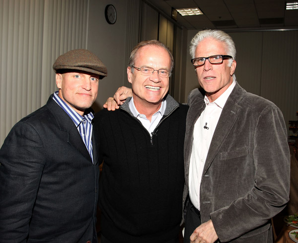 Actors Woody Harrelson, Kelsey Grammer and Ted Danson
