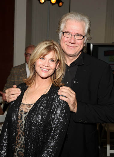 Actors Markie Post and John Larroquette