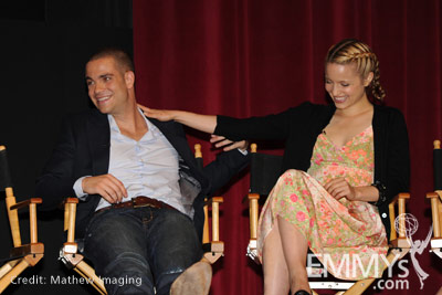Mark Salling and Dianna Agron at An Evening With Glee ...