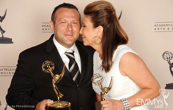 Fred Mamoun, Ana Garcia at the LA Area Regional Emmys