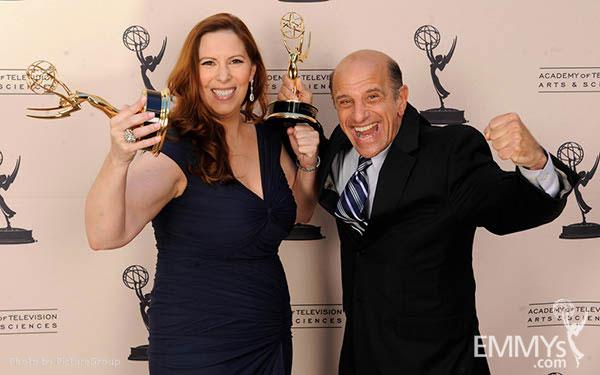 Courtney Ellinger, Dave Bryan at the LA Area Regional Emmys
