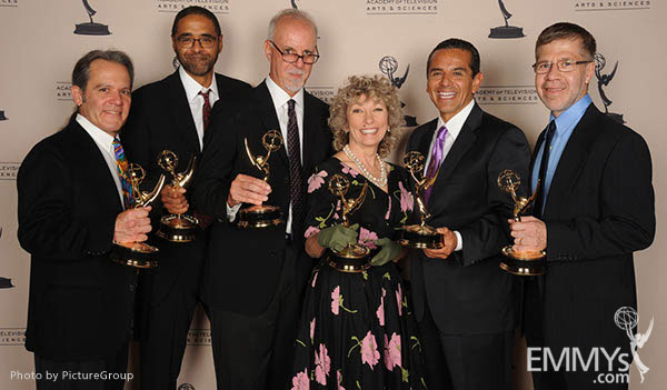 Kenny Gioseffi, Rick Wilkinson, Steve Lopez, Angela Shelley, Antonio Villaraigosa, Alberto Arce at the LA Area Regional Emmys