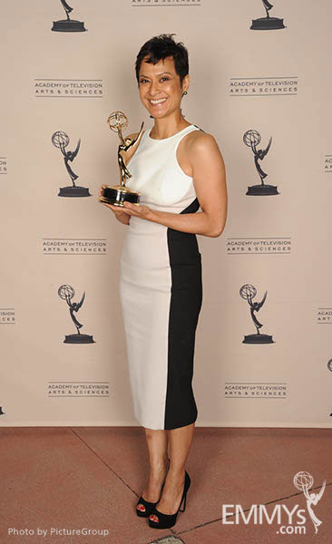 Gayle Galvez at the LA Area Regional Emmys