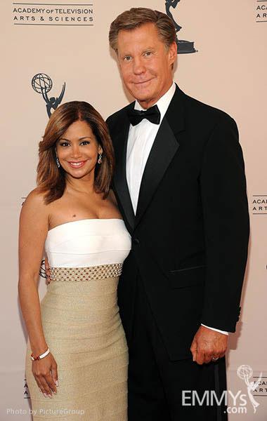 Sibila Vargas, Kent Shocknek at the LA Area Regional Emmys