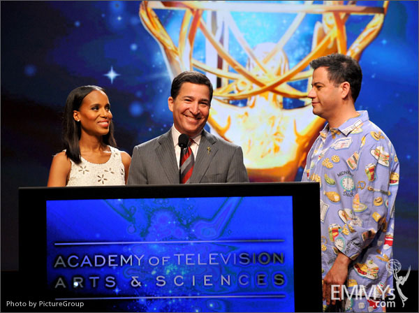 Kerry Washington, Bruce Rosenblum and Jimmy Kimmel announce the 64th Primetime Emmy Awards Nominations