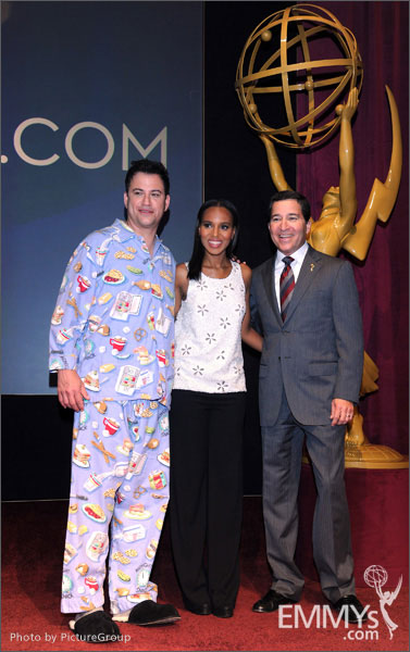 Jimmy Kimmel, Kerry Washington and Bruce Rosenblum announce the 64th Primetime Emmy Awards Nominations