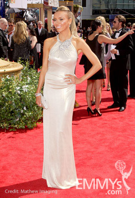 Giuliana Rancic arrives at the 62nd Annual Primetime Emmy Awards held at the Nokia Theatre