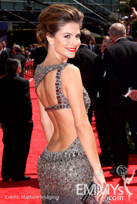 Maria Menounos arrives at the 62nd Annual Primetime Emmy Awards held at the Nokia Theatre