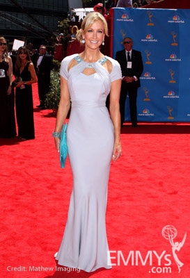 Lara Spencer arrives at the 62nd Annual Primetime Emmy Awards held at the Nokia Theatre