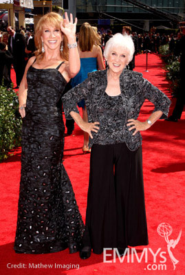 Kathy Griffin and mom, Maggie Griffin arrive at the 62nd Annual Primetime Emmy Awards held at the Nokia Theatre
