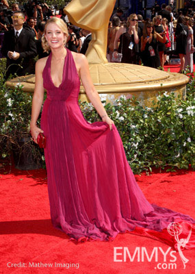 Kristen Quintrall  arrives at the 62nd Annual Primetime Emmy Awards held at the Nokia Theatre