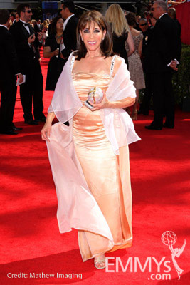 Kate Linder arrives at the 62nd Annual Primetime Emmy Awards held at the Nokia Theatre