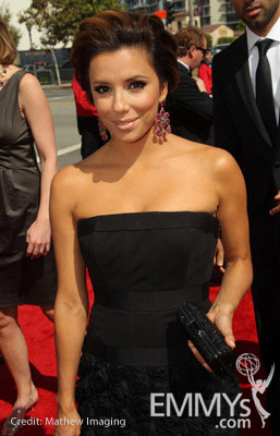 Actress Eva Longoria Parker arrives at the 62nd Annual Primetime Emmy Awards held at the Nokia Theatre