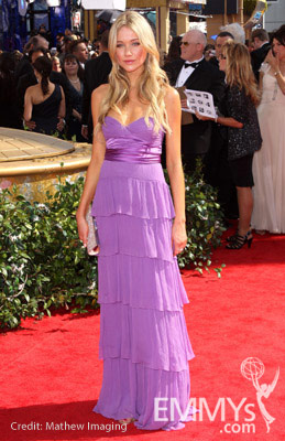 Katrina Bowden arrives at the 62nd Annual Primetime Emmy Awards held at the Nokia Theatre