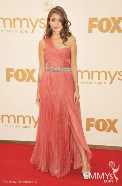 Sarah Hyland arrives at the Academy of Television Arts & Sciences 63rd Primetime Emmy Awards at Nokia Theatre L.A. Live
