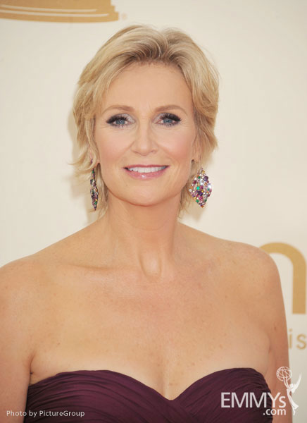Jane Lynch arrives at the Academy of Television Arts & Sciences 63rd Primetime Emmy Awards at Nokia Theatre L.A. Live
