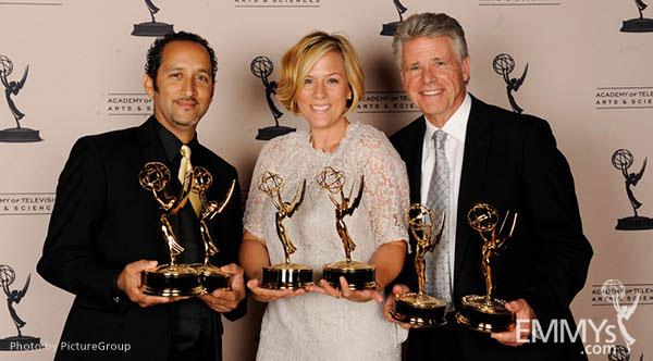 Jose Hernandez, Tara Wallis, Chuck Henry at the LA Area Regional Emmys