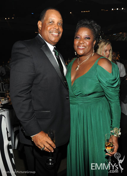 glenn marshall  l  and loretta devine attend the governors