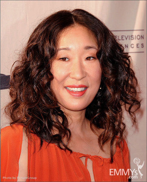 Sandra Oh arrives at Welcome to Shondaland