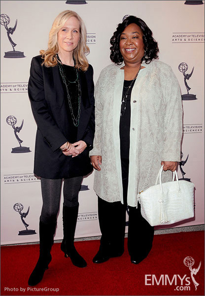 Betsy Beers and Shonda Rhimes arrive at Welcome to Shondaland