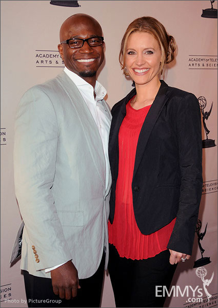 Taye Diggs and KaDee Strickland arrive at Welcome to Shondaland