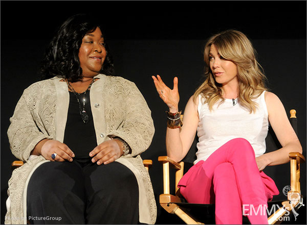 Shonda Rhimes and Ellen Pompeo participate in Welcome to Shondaland