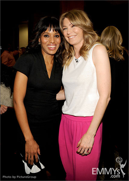 Kerry Washington and Ellen Pompeo attend Welcome to Shondaland