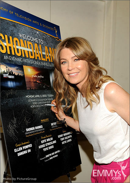 Ellen Pompeo attends Welcome to Shondaland