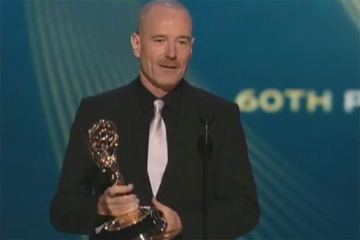 Bryan Cranston Accepts The Emmy For Lead Actor In A Drama