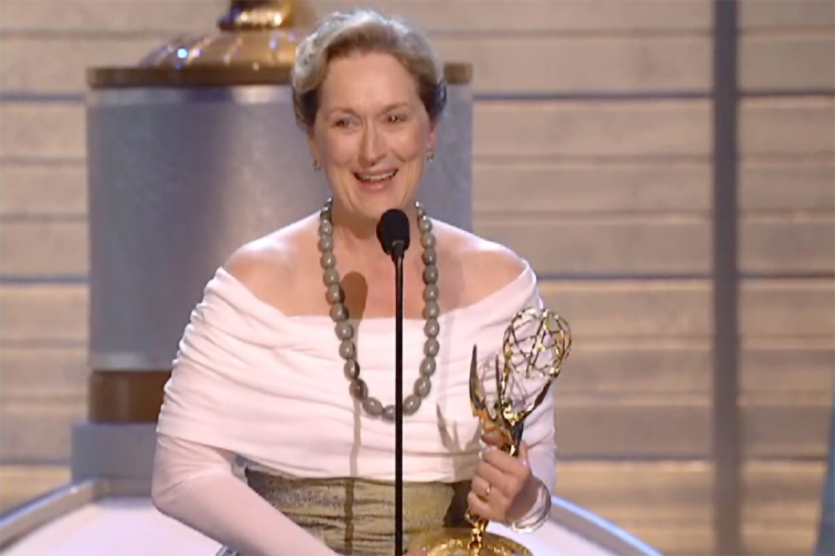Image result for meryl streep emmy win