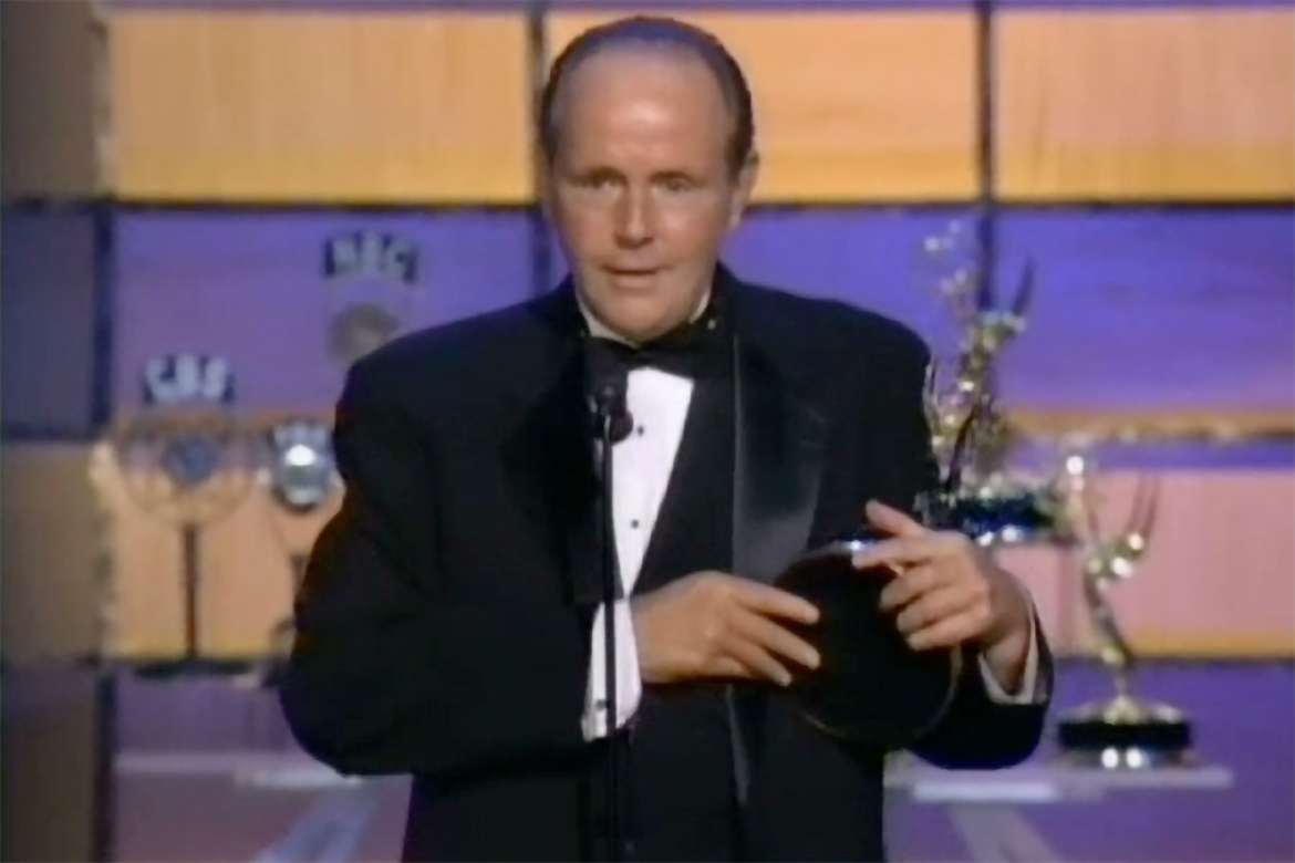 Michael Moriarty accepts the Emmy for Supporting Actor in ...