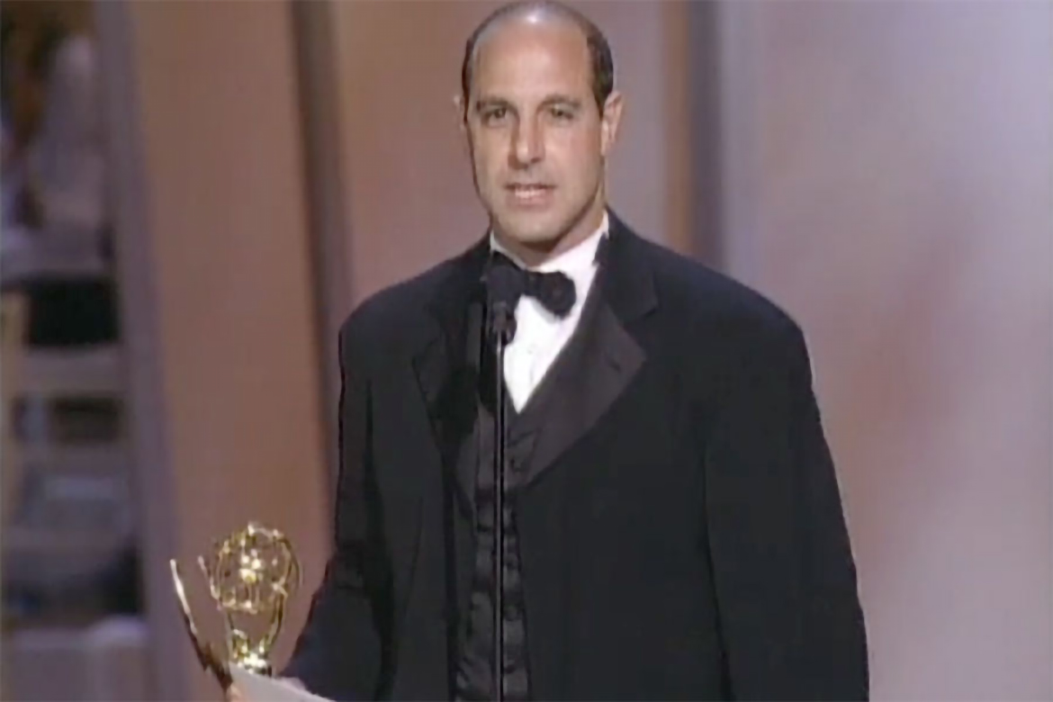 Stanley Tucci accepts the Emmy for Lead Actor in a Miniseries or a Movie    Television Academy 946d814546d8
