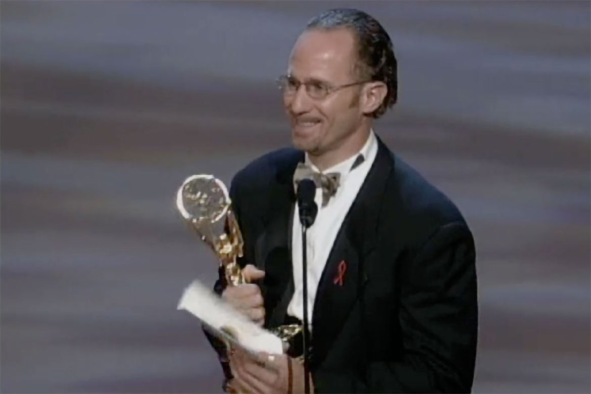 todd holland accepts the emmy for directing for a comedy