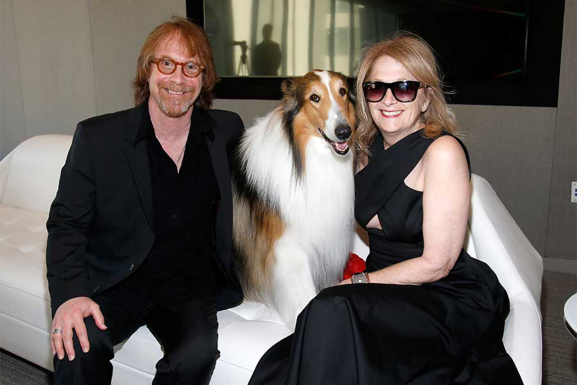 Bill Mumy Lassie And Eileen Mumy At The Television