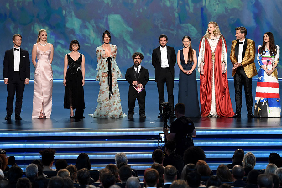The cast of Game of Thrones on stage at the 71st Emmy Awards.