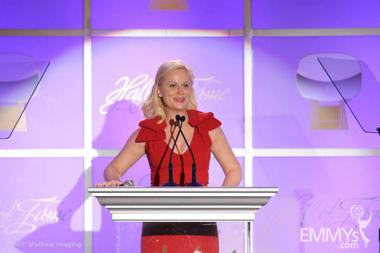 Amy Poehler, host of the 19th Academy of Television Arts & Sciences Hall of Fame Induction Gala.
