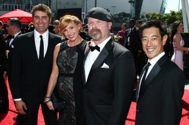 Tory Belleci, Kari Byron, Jamie Hyneman and Grant Imahara on the Red Carpet at the 65th Creative Arts Emmys