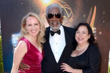 Morgan Freeman on the Red Carpet at the 65th Creative Arts Emmys