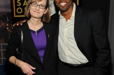 Lucy Hood and Jason George